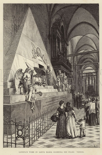 Canova's Tomb in Santa Maria Gloriosa dei Frari, Venice
