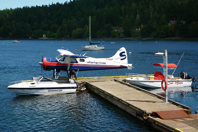 Floatplane at Miners Bay, Mayne Island, Southern Gulf Islands, British Columbia