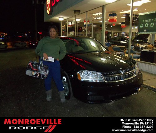 Happy Anniversary to Lonnie Davis on your 2013 #Dodge #Avenger from Nicholas Mckinney  and everyone at Monroeville Dodge! #Anniversary by Monroeville Dodge