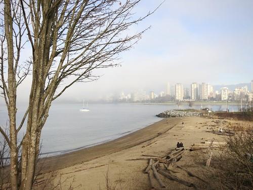 Wintry beach