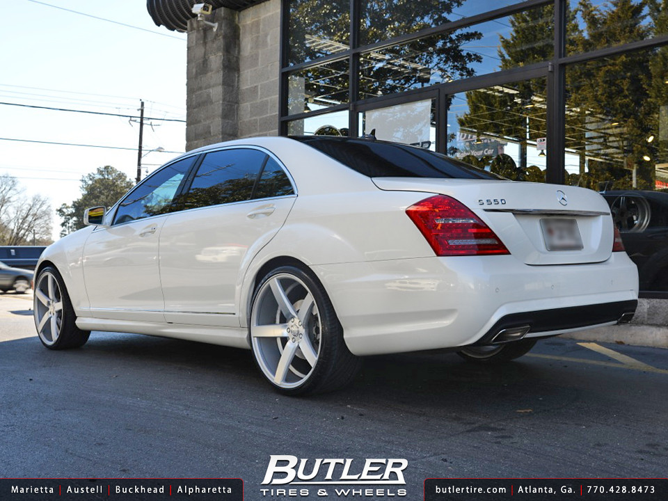 Mercedes s550 with 22in vossen cv3 wheels a photo on for Mercedes benz s550 rims for sale