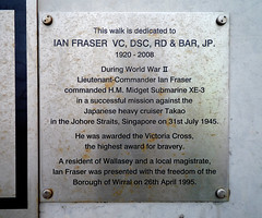 Photo of Ian Fraser brushed metal plaque