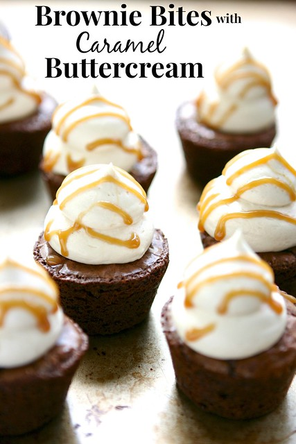 Brownie Bites with Caramel Buttercream 3