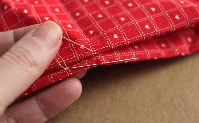 how to slip stitch an opening