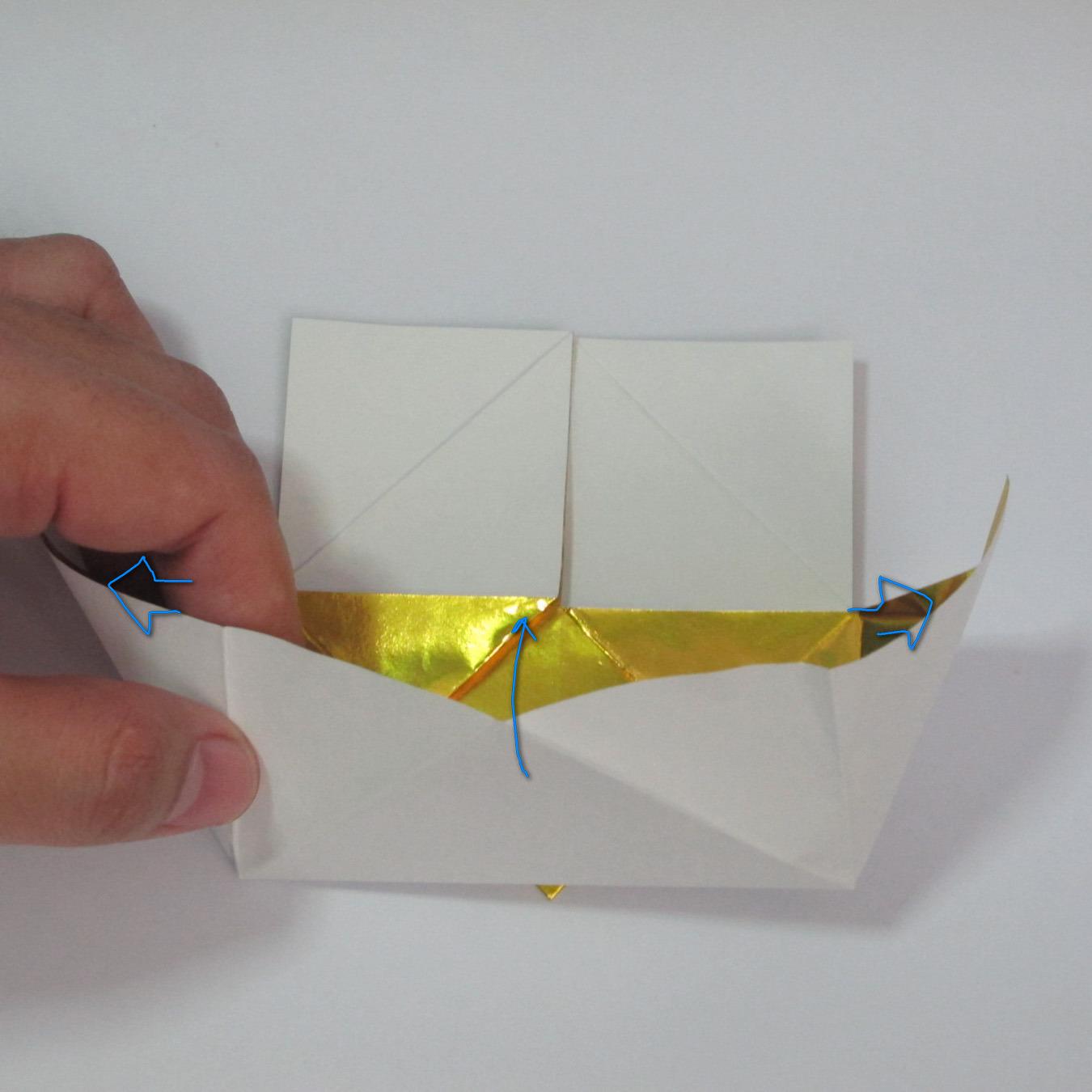 วิธีพับกระดาษเป็นรูปหัวใจติดปีก (Heart Wing Origami) 018