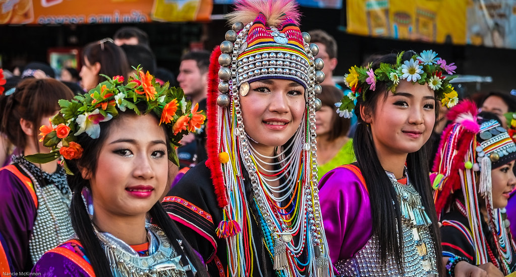 Hill Tribe Ladies in Beautiful Traditional Dress