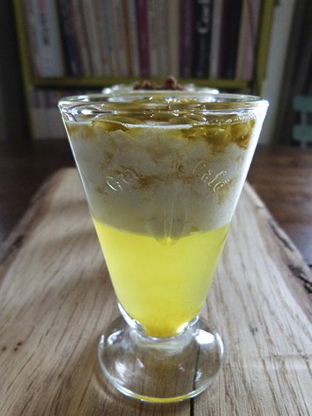 gelée de citron vert et riz au lait