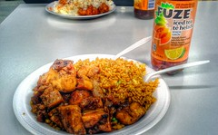 Lunch at Ming Sin Asian Cafe (Bourbon Chicken with…