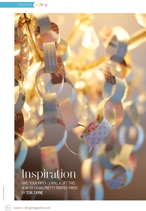 Paper chains as seen in Making Magazine