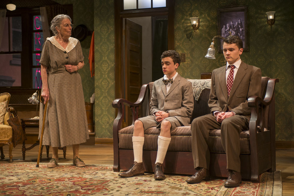 Ann Whitney (Grandma), Sebastian W. Weigman (Arty), and Alistair Sewell (Jay)