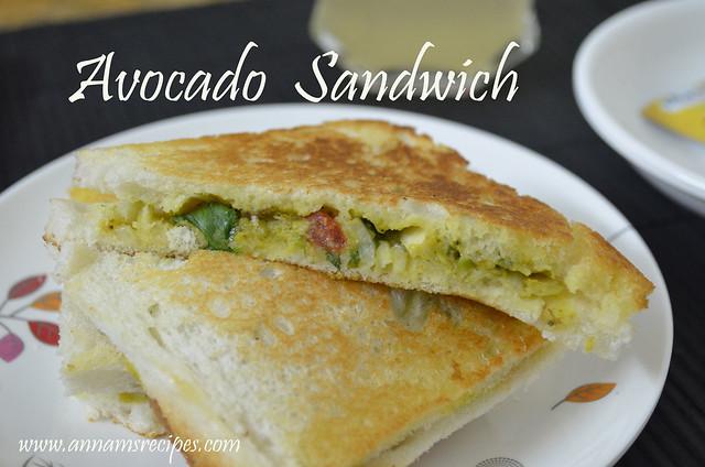 Avocado Sandwich / Butter Fruit Sandwich