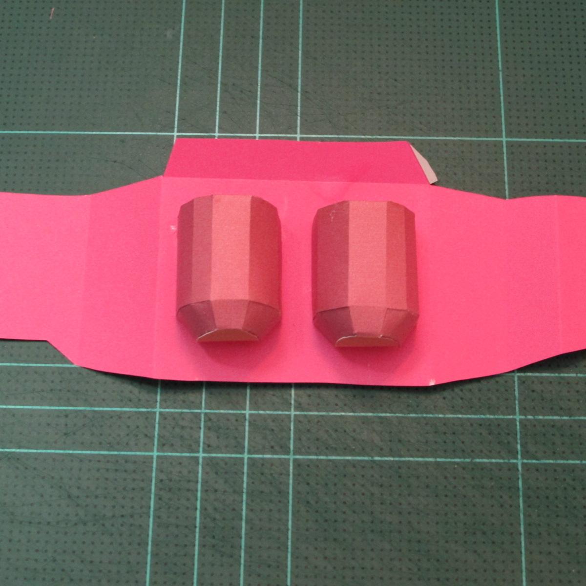 วิธีทำโมเดลกระดาษตุ้กตาคุกกี้รัน คุกกี้รสสตอเบอรี่ (LINE Cookie Run Strawberry Cookie Papercraft Model) 025
