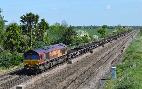 66057 at Colton Junction with the 6J72 Tees Dock to Aldwarke, 17th May 2014.