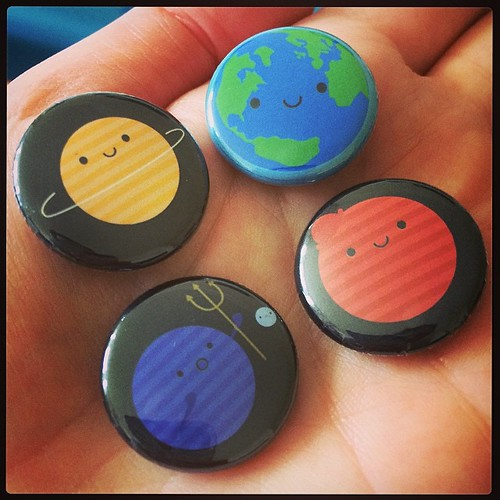 Just arrived today! My new solar system badges will be available exclusively at @shanalogic soon.