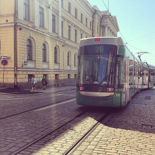 赫爾辛基輕軌電車,江安中攝。