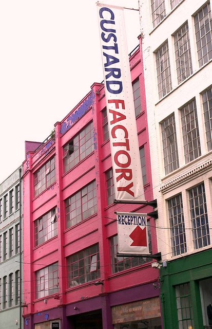 Custard Factory sign, by Parmjit Flora
