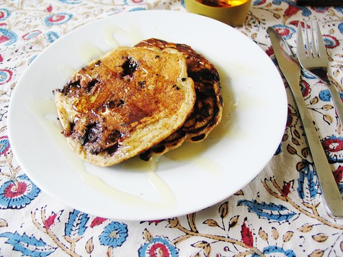 Vegan blueberry pancakes!