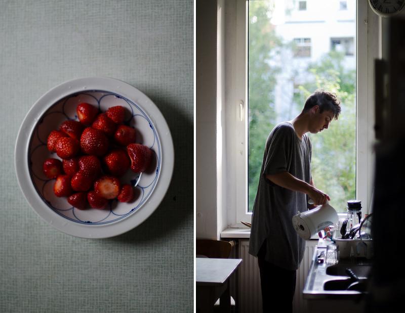 leo und erdbeeren