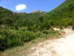 L'extrémité de la piste du réservoir de Radichella