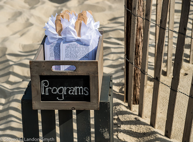 Wedding Programs in the Sand