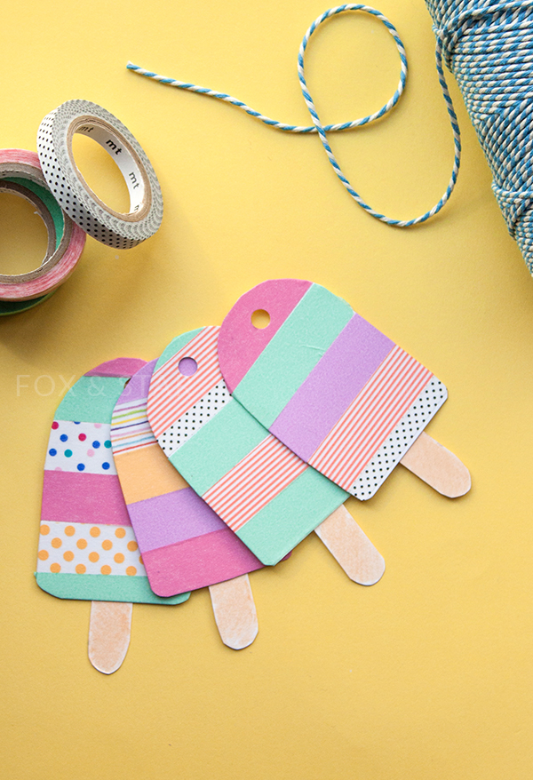 mt masking tape washi tape ice lolly tags