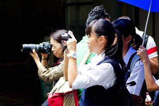 People to Shoot a Panda at Ueno Zoo : パンダを撮影する人々(上野動物園)