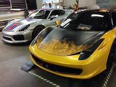 Ferrari 458 Italia and Porsche Cayman GT4 Clubsport