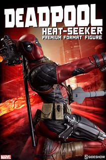 【完整官圖、販售資訊更新】Sideshow Collectibles【死侍時間靜止中】Deadpool Heat-Seeker 1/4 比例雕像爆笑登場!!