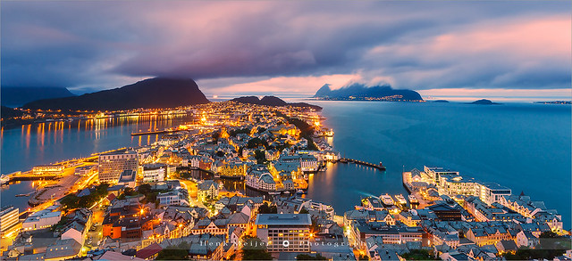 Sunset Alesund - Norway