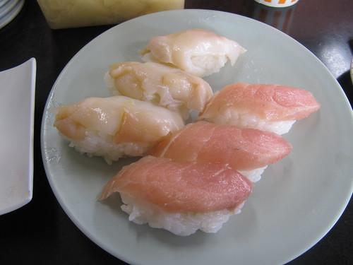 金沢競馬場の金澤玉寿司のばい貝とサワラのソデ