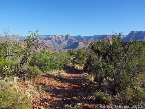 The Grandview Trail not long before the turnoff for Page Springs, Grand Canyon National Park, Arizona