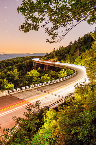 linn cove viaduct at night by DigiDreamGrafix.com