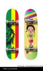 Skateboard Deck Design Adobe Illustrator CS6 by Reeves College Student Luisa C