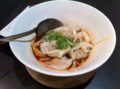 Wontons in spicy sauce