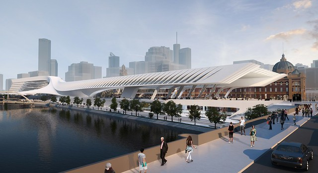 Flinders Street station design: Zaha Hadid Architecture and BVN Architecture