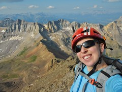 Clare On the Summit of Mount Sneffels