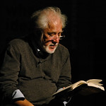 Michael Ondaatje reading on stage |