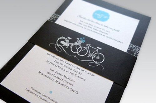 bicycles wedding invitation