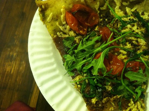 vegan pizza @ Blackbird Pizzeria