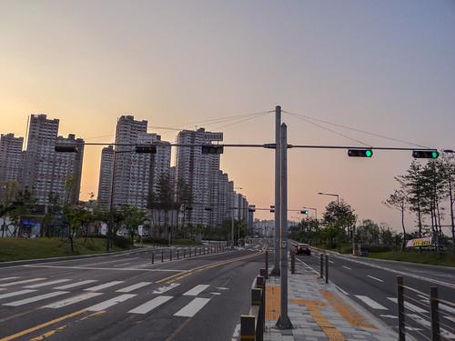 sunset day cloudy newtown daejeon 대전 노을 신도시 도안동로 도안동 도안신도시