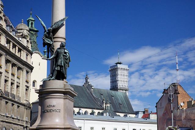 Statue of Mitskevich. Lviv, Ukraine