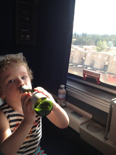 Living it up on the train