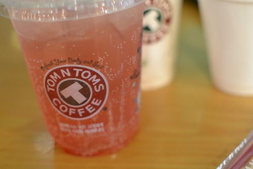 Tom N Toms raspberry soda