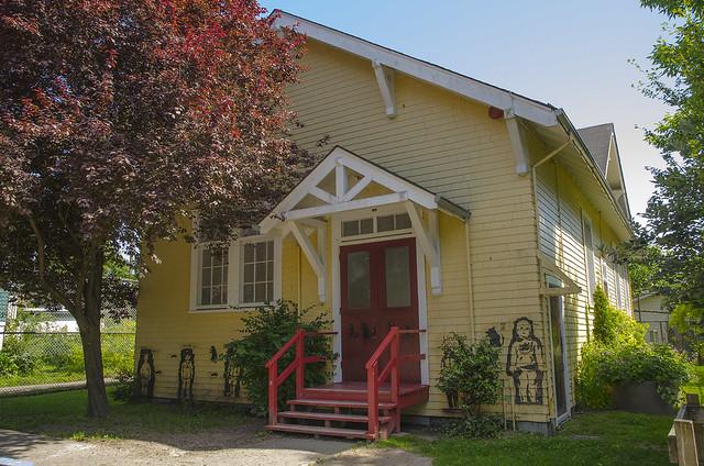 Wooden schoolhouse (1913-14) at General Gordon elementary