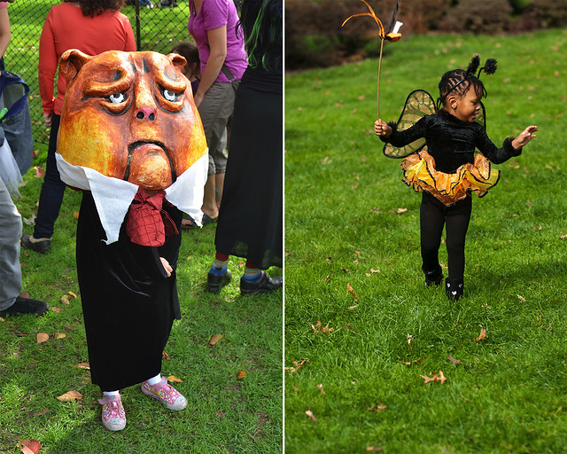 Visitors at Ghouls & Gourds; left photo by Jean-Marc Grambert; right photo by Jason Gardner.