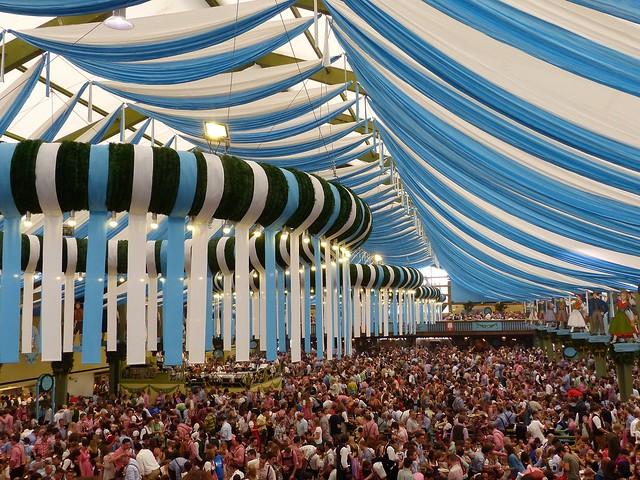 Oktoberfest in Munich: inside the tent