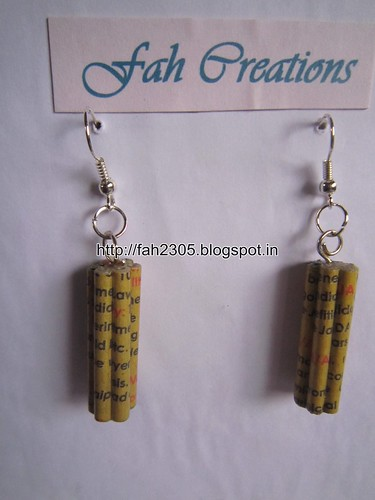 Handmade Jewelry - Paper Quilling Earrings (17) by fah2305