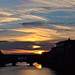 Sunset behind Ponte Vecchio 2 by Anna Frascari