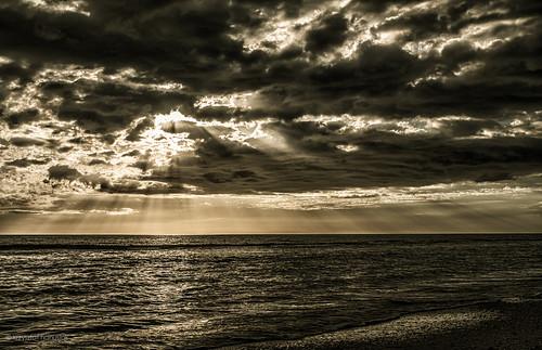 ocean sunset sea sun beach clouds unitedstates florida sunrays marcoisland