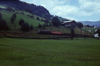 Electric loco hauled freight train, Austria July 1974 009